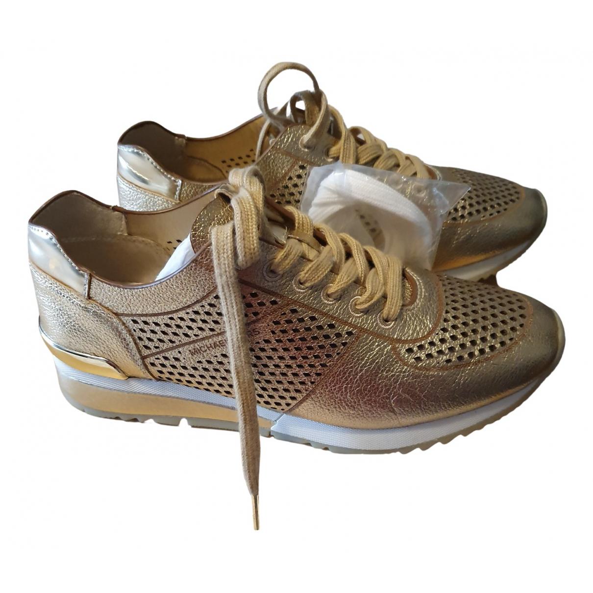 Michael Kors - Baskets   pour femme en cuir - dore