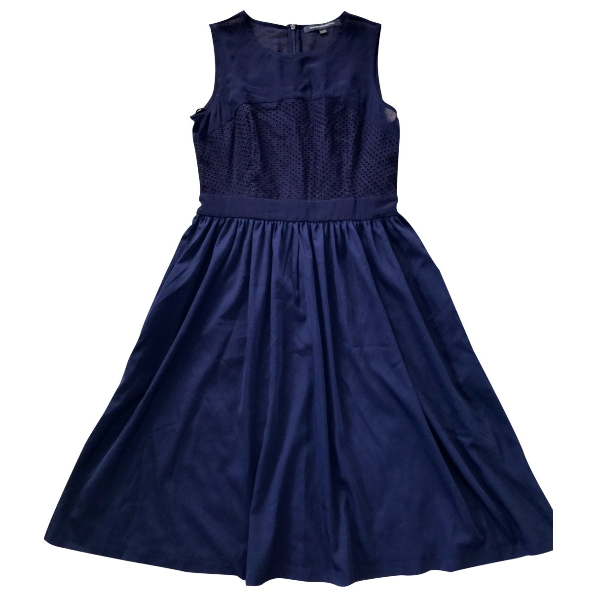 French Connection \N Navy Cotton - elasthane dress for Women 12 UK