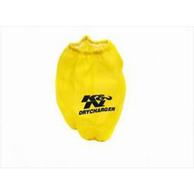 K&N DryCharger Round Tapered Filter Wrap (Yellow) - RF-1015DY