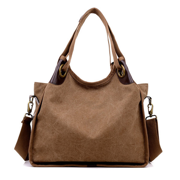 Women Large Capacity Canvas Casual Handbag Shopping Travel Shoulder Bags