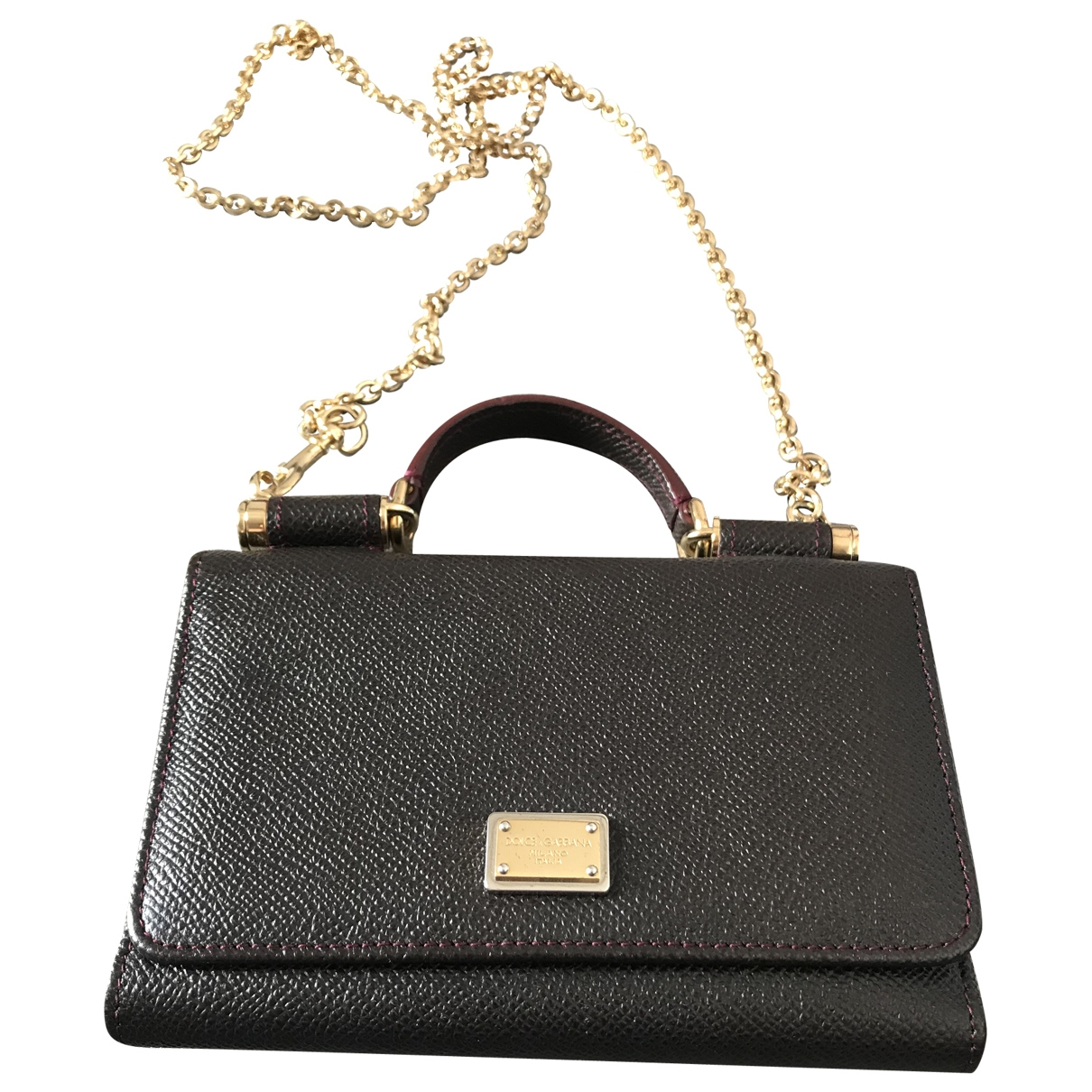 Dolce & Gabbana Sicily Brown Leather Clutch bag for Women \N
