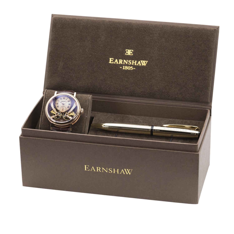 Thomas Earnshaw Men's Beaufort Anatolia Automatic ES-8059-SETA-03 Brown Leather Hand Wind Fashion Watch