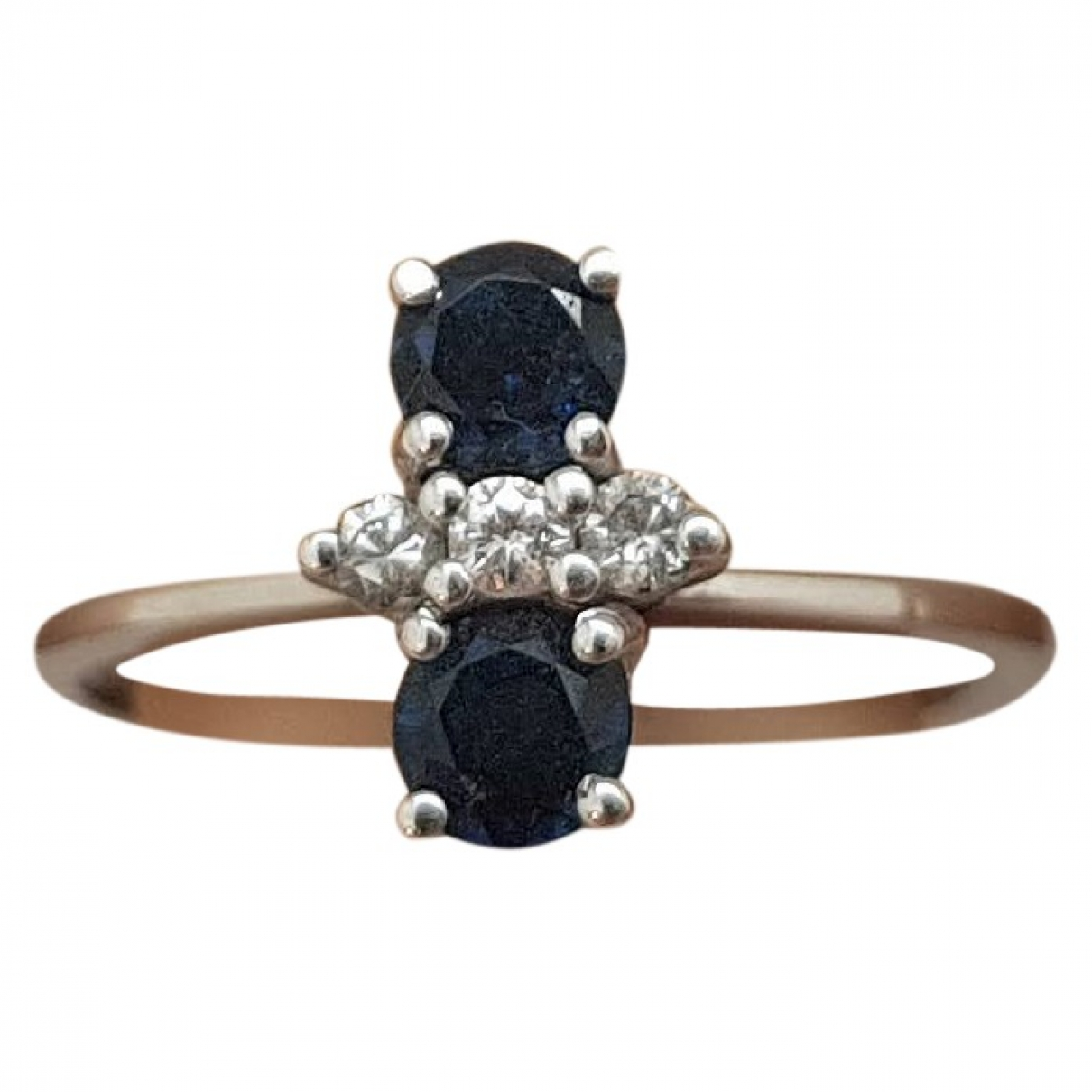Non Signé / Unsigned Saphir White White gold ring for Women 54 EU