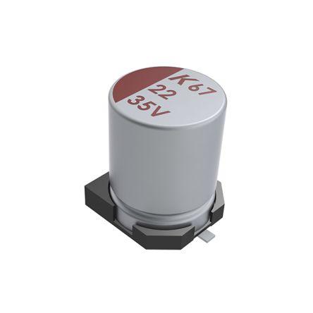 KEMET 100μF Electrolytic Capacitor 63V dc, Surface Mount - A767MU107M1JLAE028 (400)