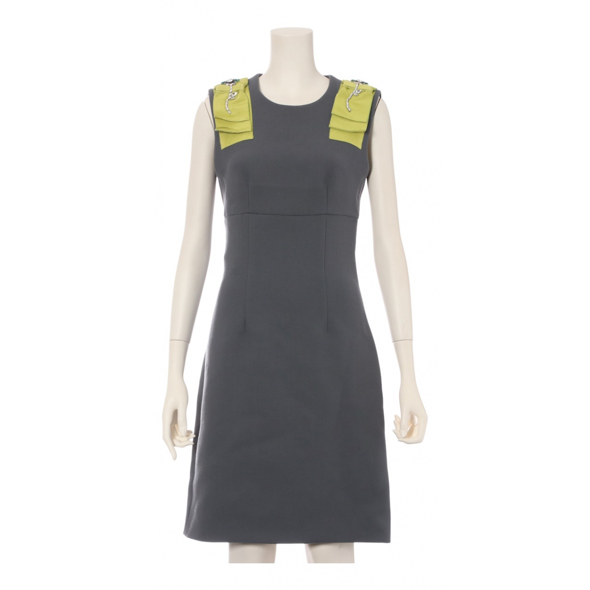 Prada \N Grey Wool dress for Women 36 FR