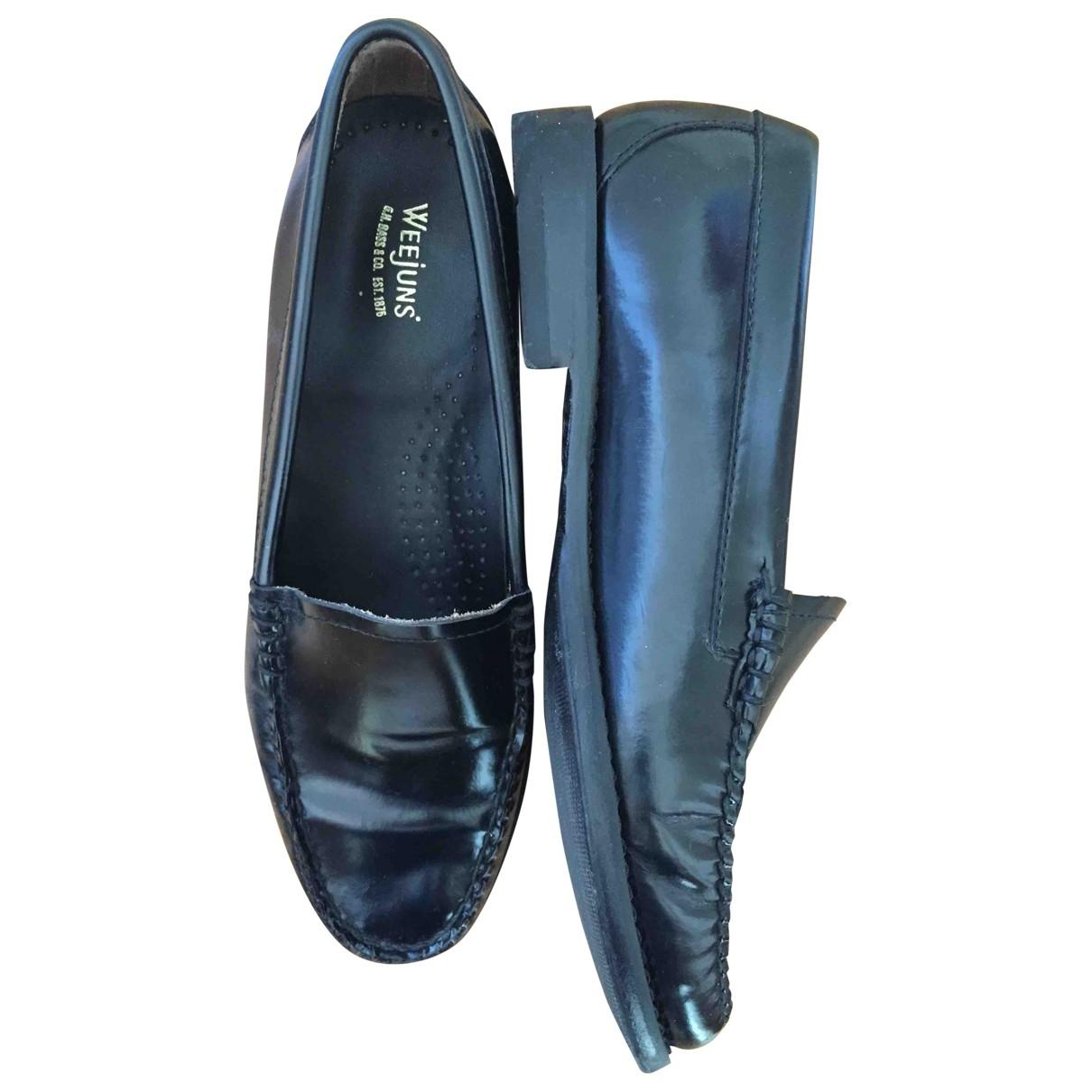 Bass Weejun \N Black Leather Flats for Women 5 UK