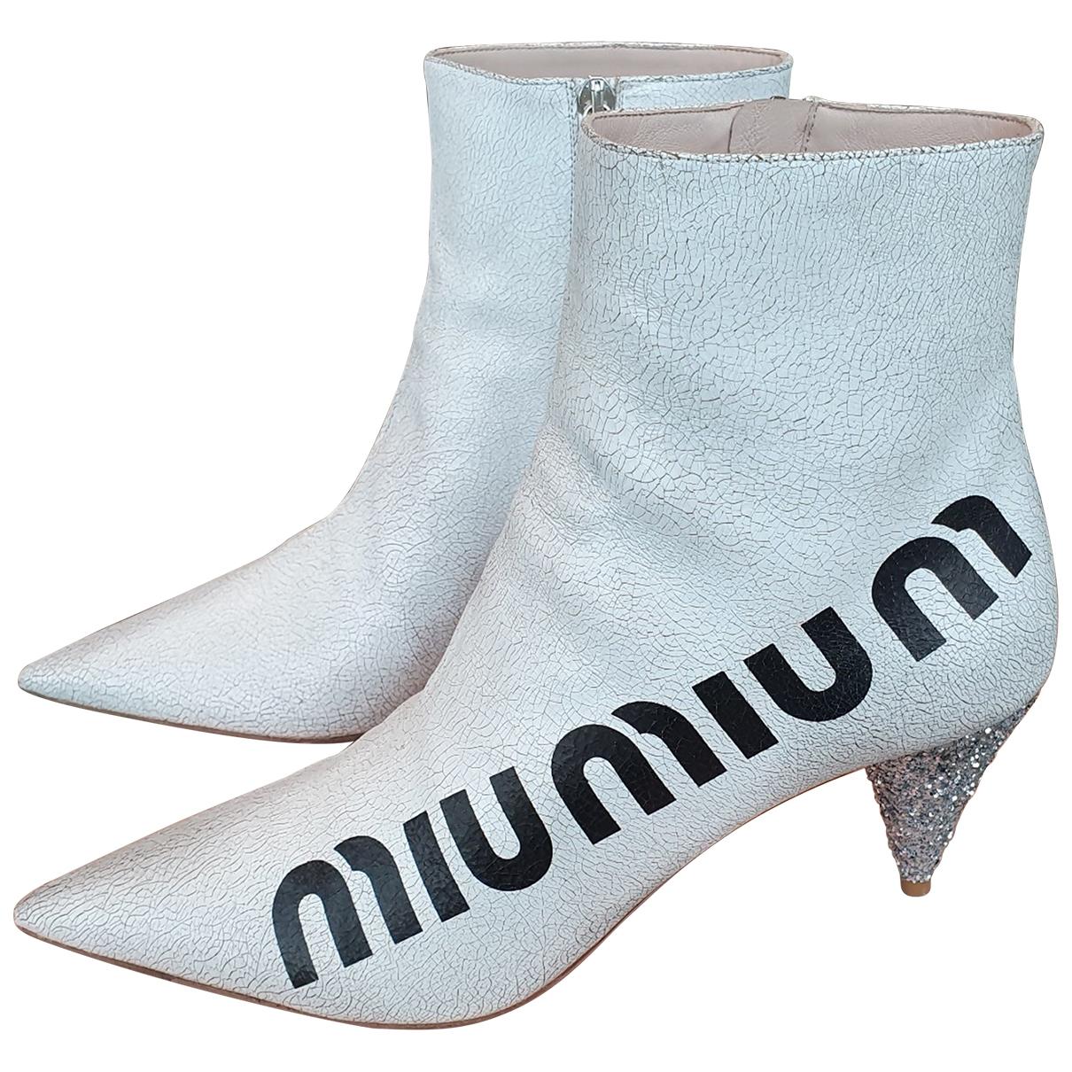 Miu Miu - Boots   pour femme en cuir