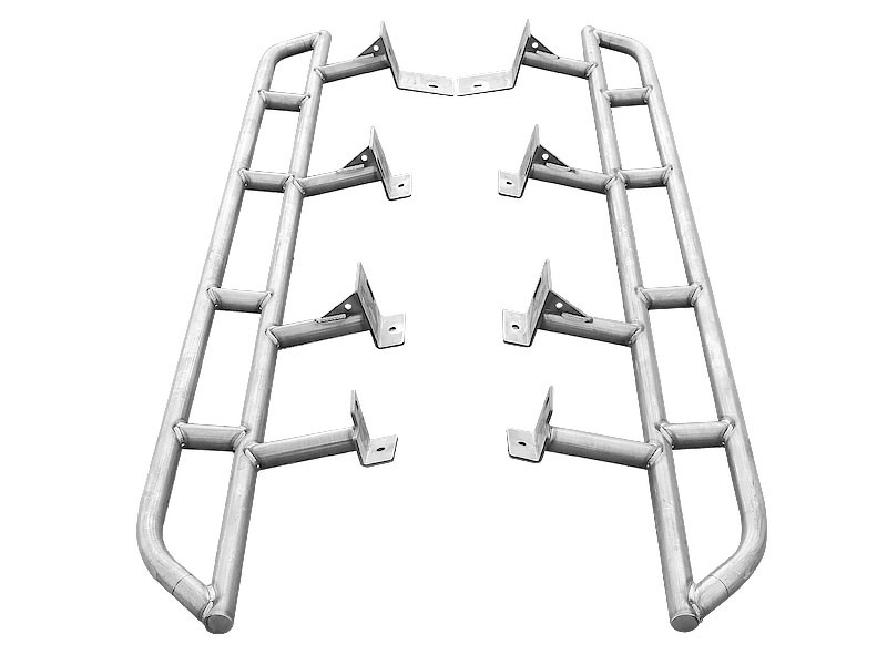 CBI Offroad T2-RSBO-DOM-DCLB DOM Bolt-On Rock Sliders 2nd Gen Toyota Tacoma Long Bed 05-15