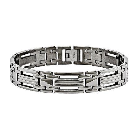 Mens Titanium Chain Bracelet, One Size , No Color Family