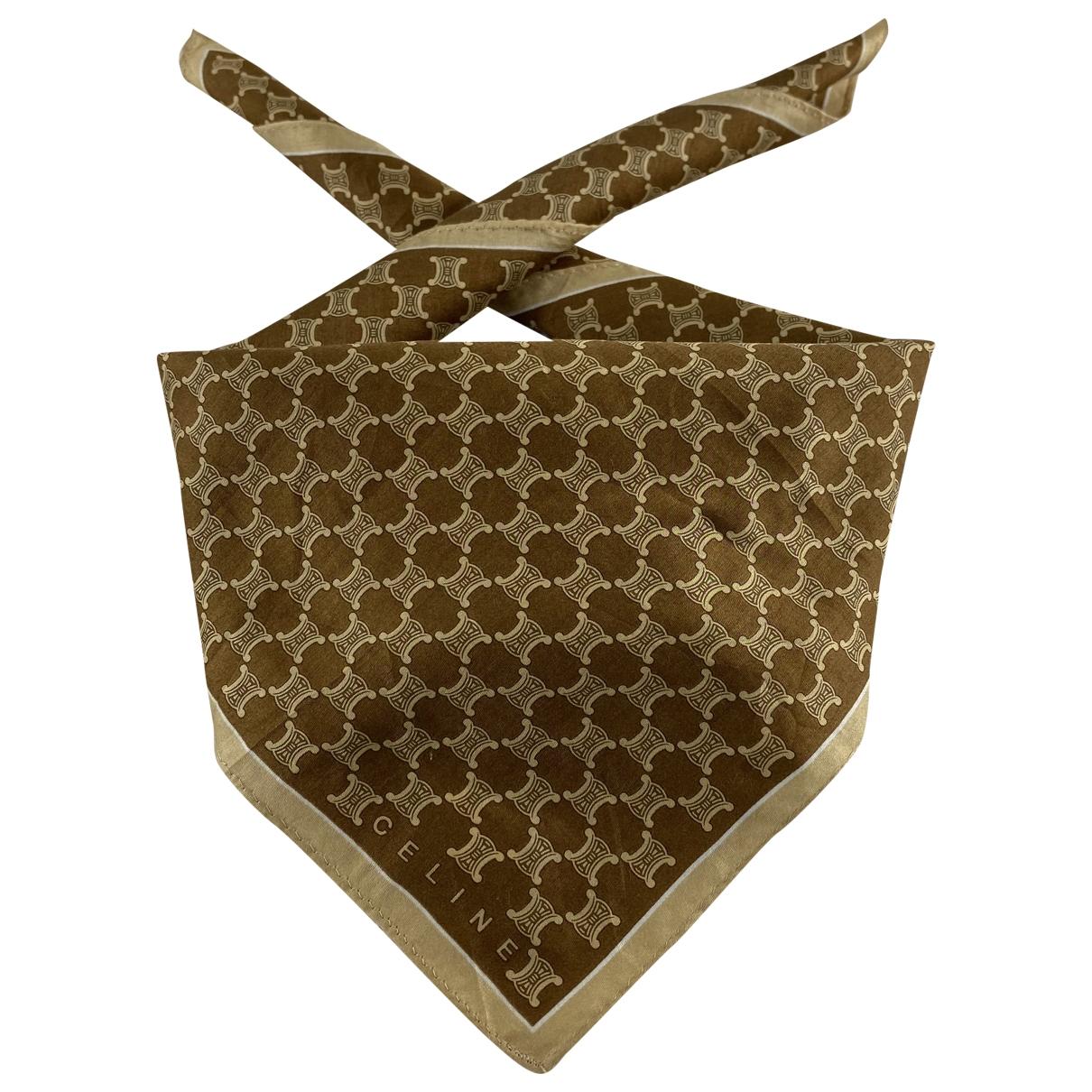 Celine \N Beige Cotton scarf for Women \N