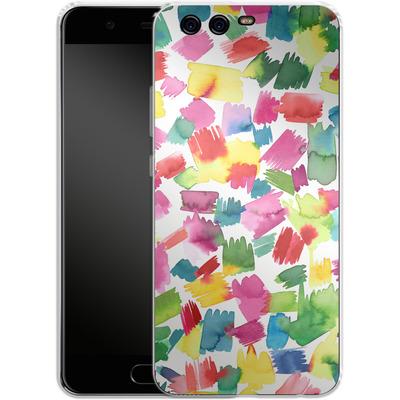 Huawei P10 Silikon Handyhuelle - Abstract Spring Colorful von Ninola Design
