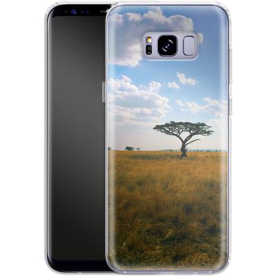 Samsung Galaxy S8 Plus Silikon Handyhuelle - Tanzanian Savanna von Omid Scheybani