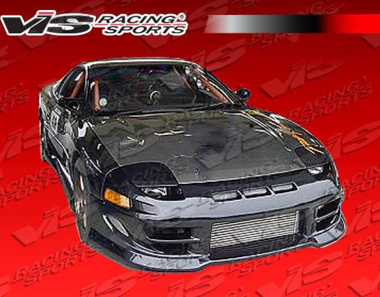 VIS Racing 91MT3K2DOE-010C OEM Style Black Carbon Fiber Hood Mitsubishi 3000GT 91-93