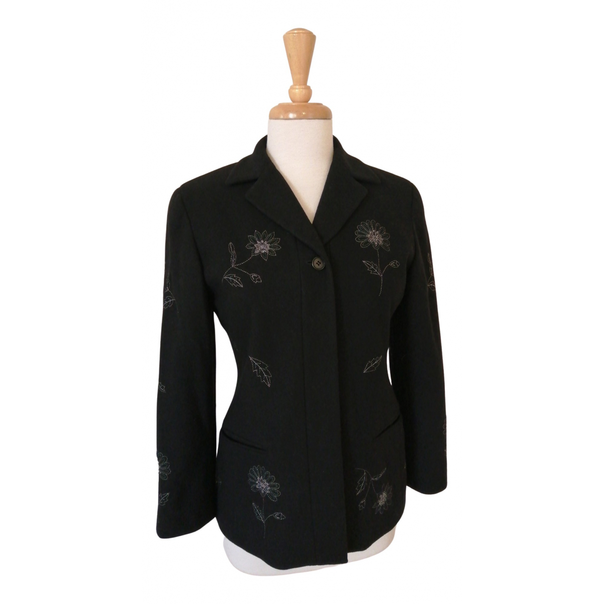 Emanuel Ungaro N Black Wool jacket for Women 38 FR