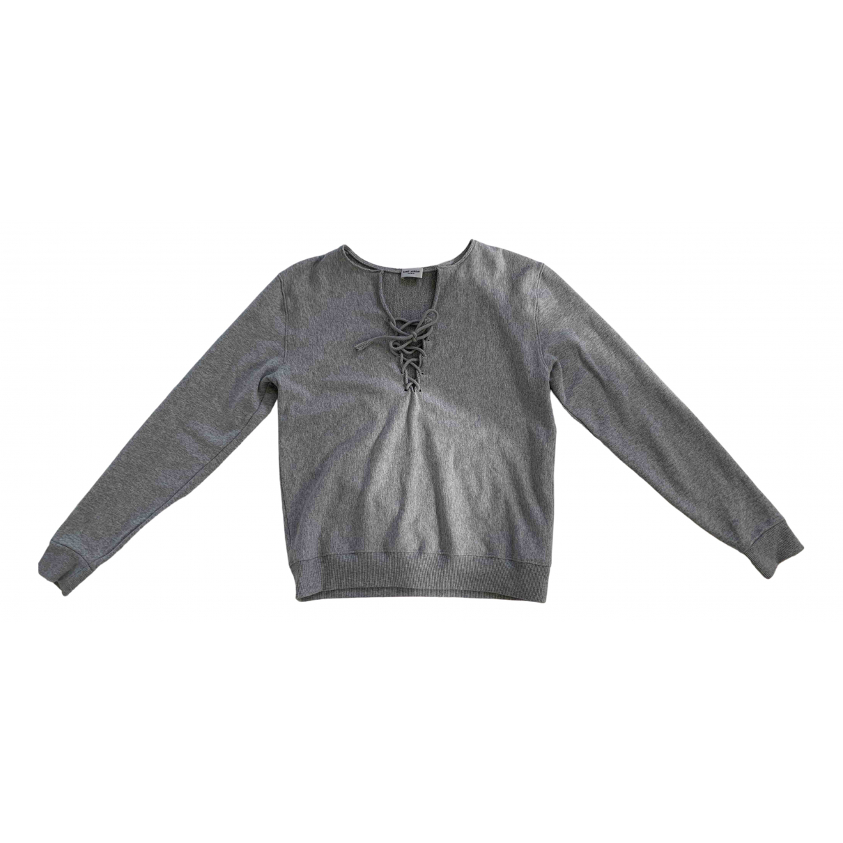 Saint Laurent \N Pullover in  Grau Baumwolle
