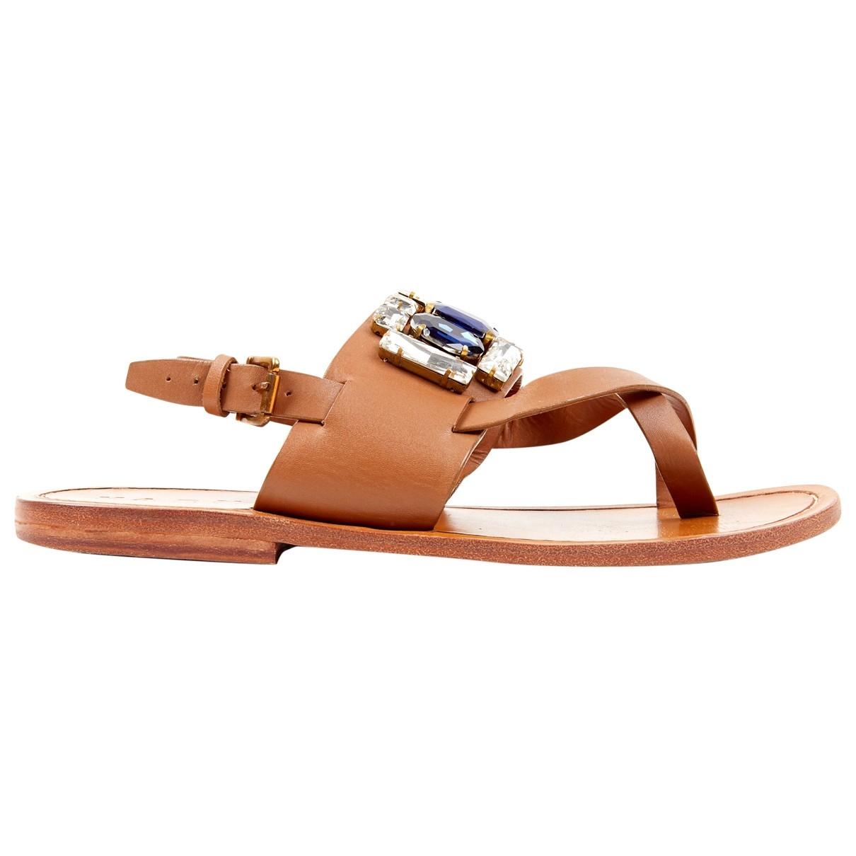 Marni \N Camel Leather Sandals for Women 38 EU