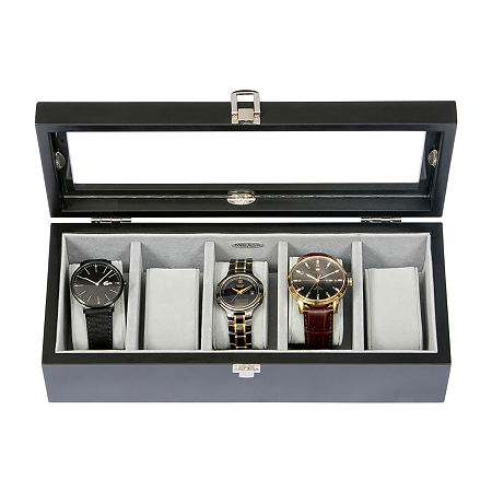 Tate Ebony Watch Box, One Size , No Color Family