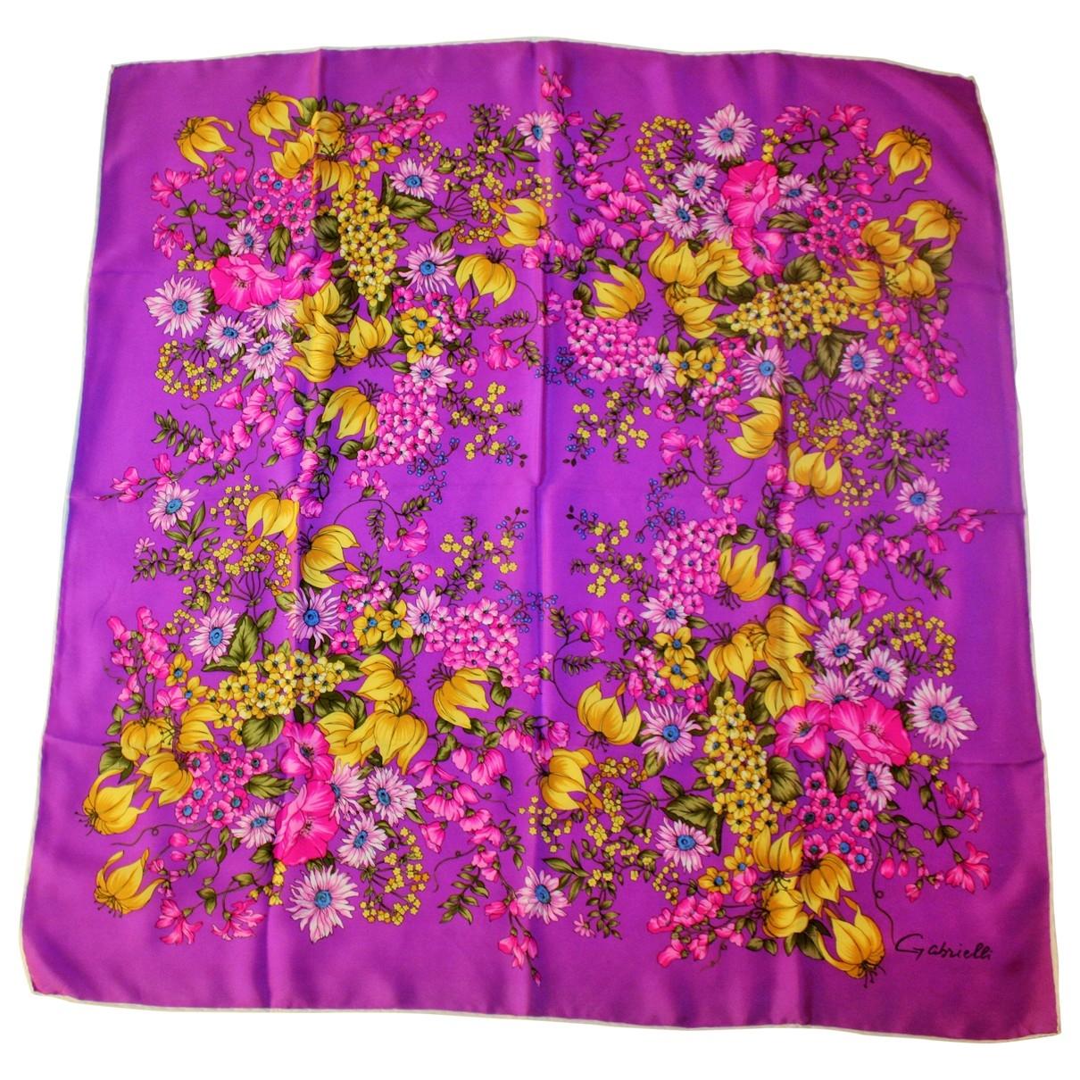 - Foulard   pour femme en soie - violet