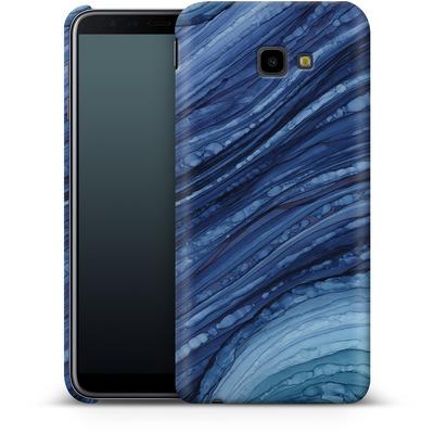Samsung Galaxy J4 Plus Smartphone Huelle - Blue Agate Crystal Slice von Becky Starsmore