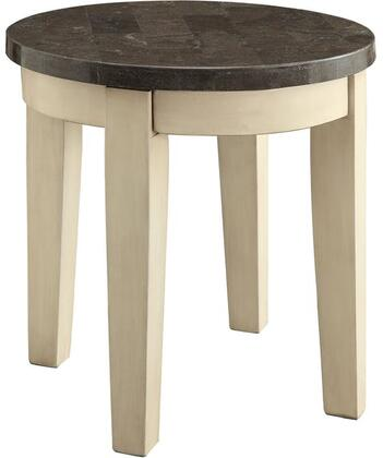 81756 Faymoor End Table  Limestone Marble & Antique