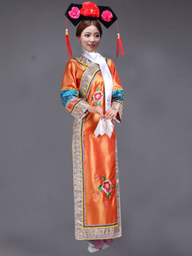 Milanoo Women's Chinese Costume Halloween Qing Dynasty Princess Fancy Dress