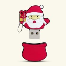 USB-Massenspeicher mit Weihnachtsmann Muster
