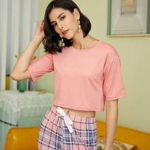 Pajama Set mit Karo Muster