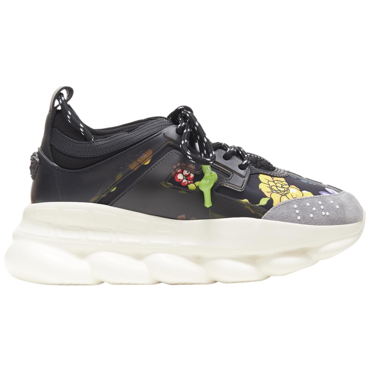 Versace Chain Reaction Sneakers in  Bunt Leinen