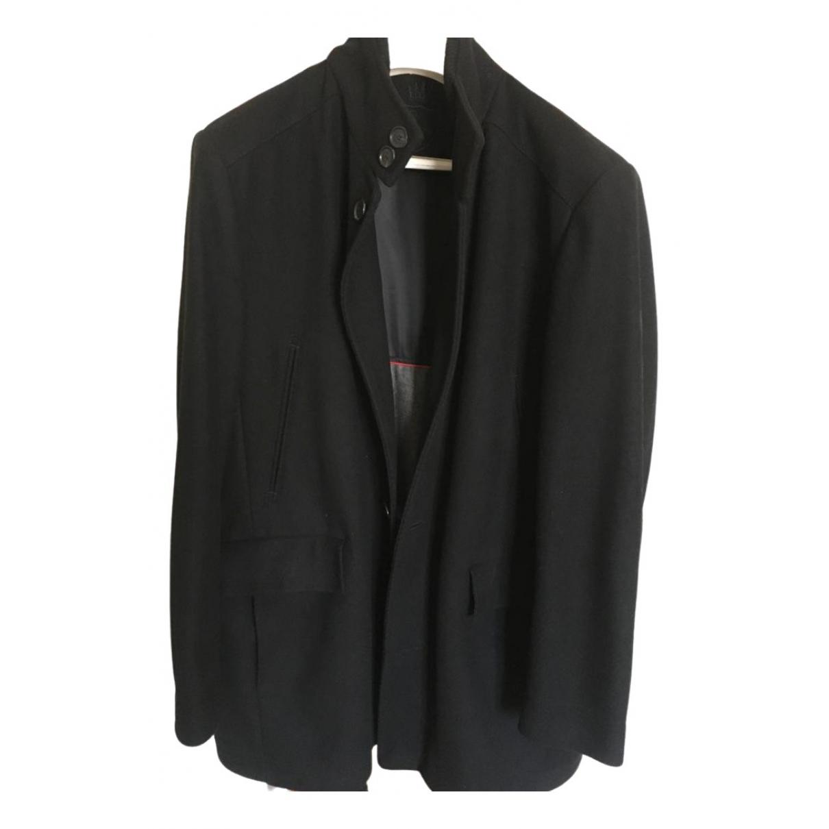 Louis Feraud - Manteau   pour homme en laine - noir