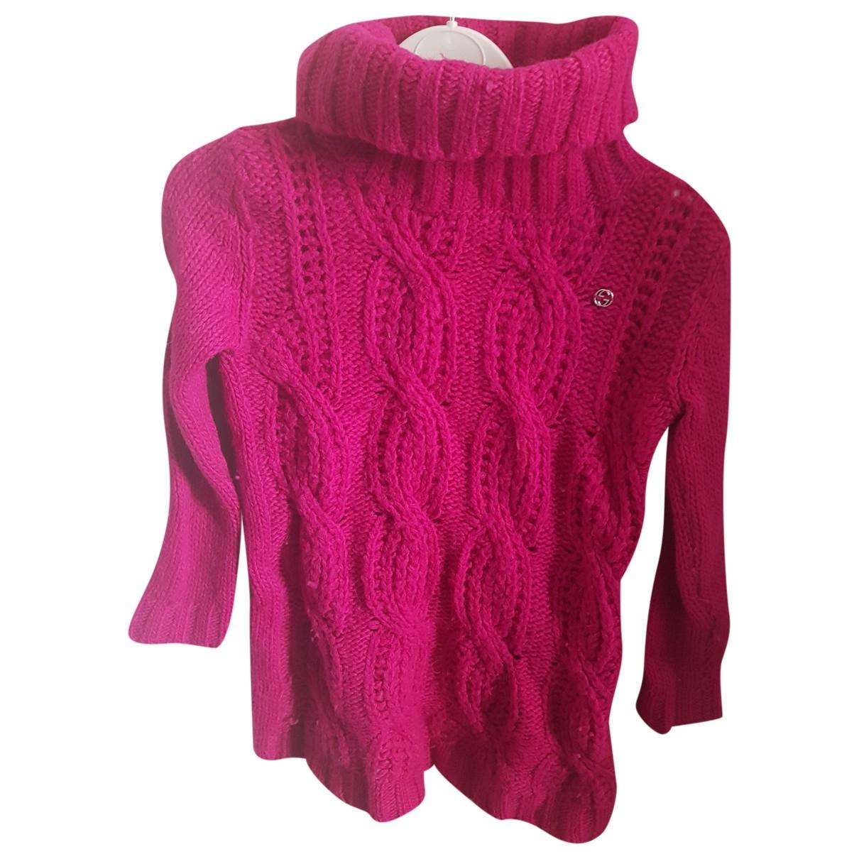 Gucci - Pull   pour enfant en laine - rose