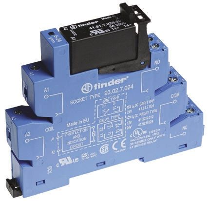 Finder , 24V dc SPNO Interface Relay Module, Screw Terminal , DIN Rail