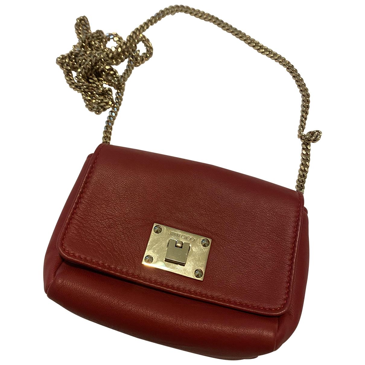Jimmy Choo \N Handtasche in  Bordeauxrot Leder