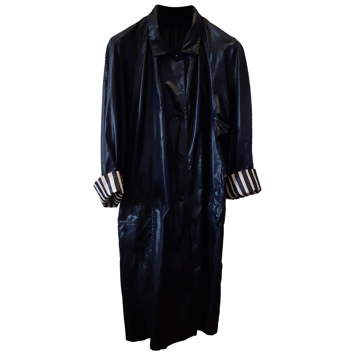 Non Signé / Unsigned \N Black Trench coat for Women XL International