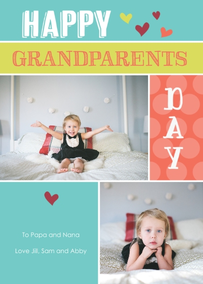 Grandparents Day Flat Matte Photo Paper Cards with Envelopes, 5x7, Card & Stationery -Lots of Love