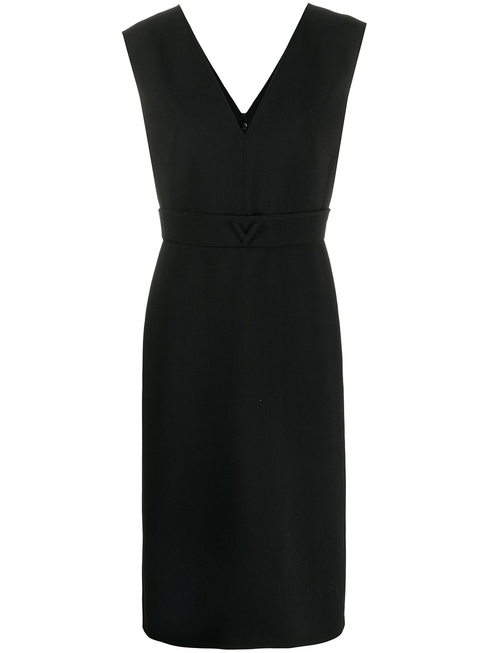 V-necked Short Dress