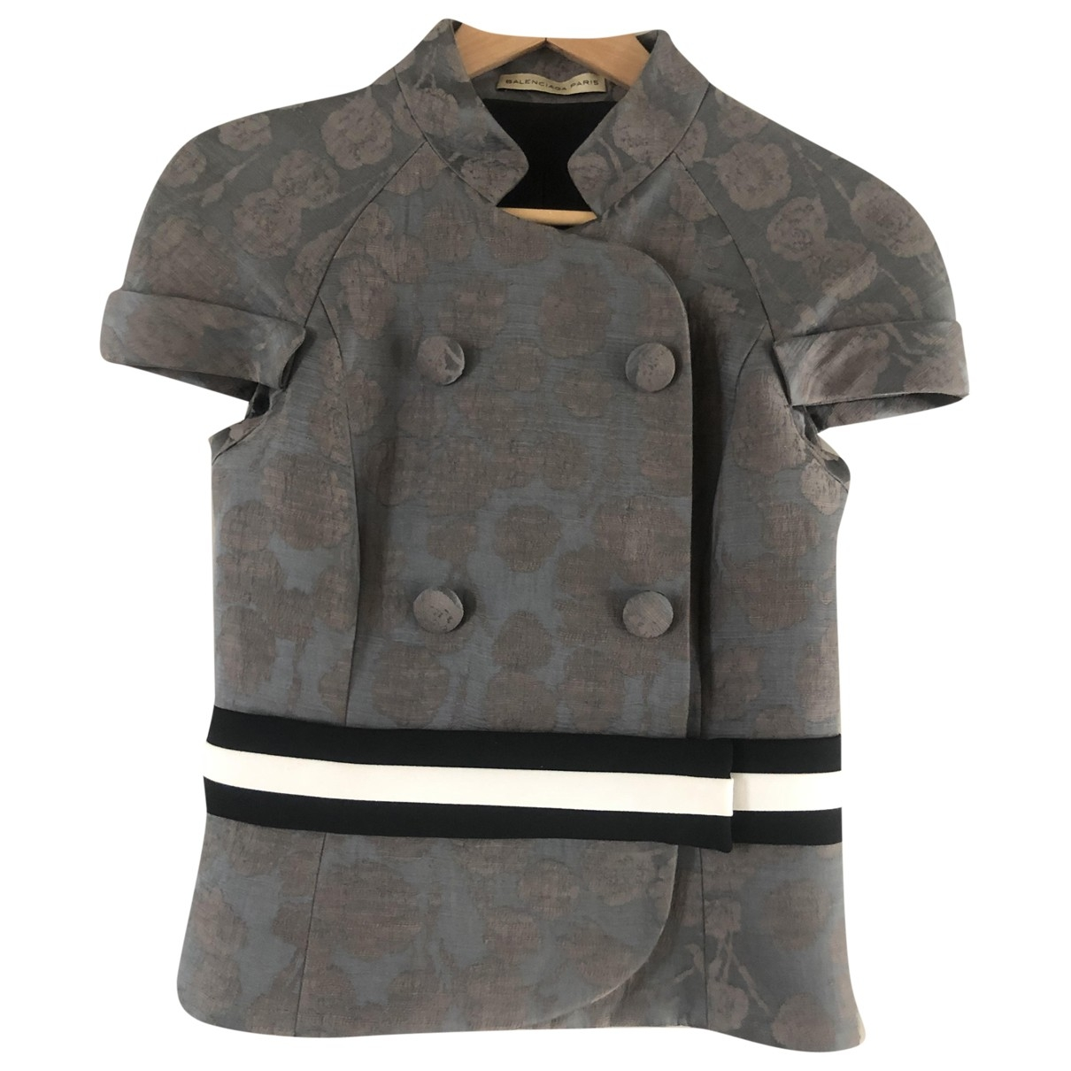 Balenciaga \N Grey Linen jacket for Women 36 FR