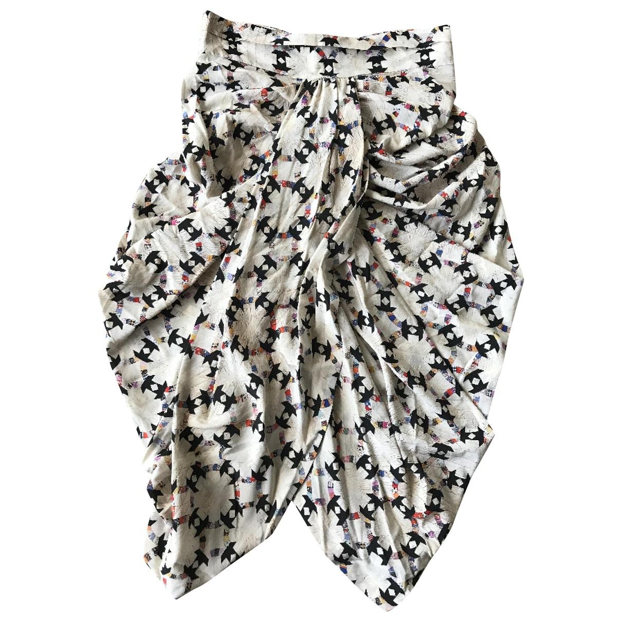 Isabel Marant \N Beige Silk skirt for Women 38 IT