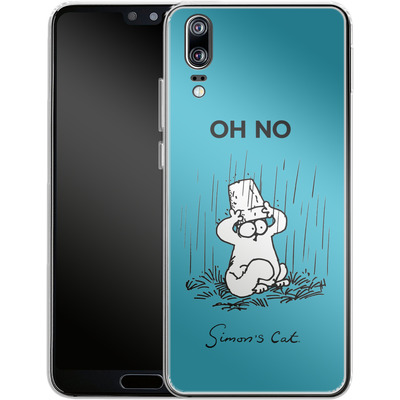 Huawei P20 Silikon Handyhuelle - Oh No von Simons Cat