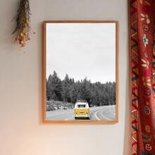 Bus Print Wall Painting Without Frame