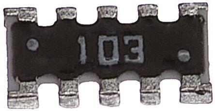 KOA CNK Series 6.8kΩ ±5% Isolated SMT Resistor Array, 4 Resistors 0804 (2010M) package Convex SMT (100)