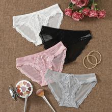4pack Floral Lace Panty Set