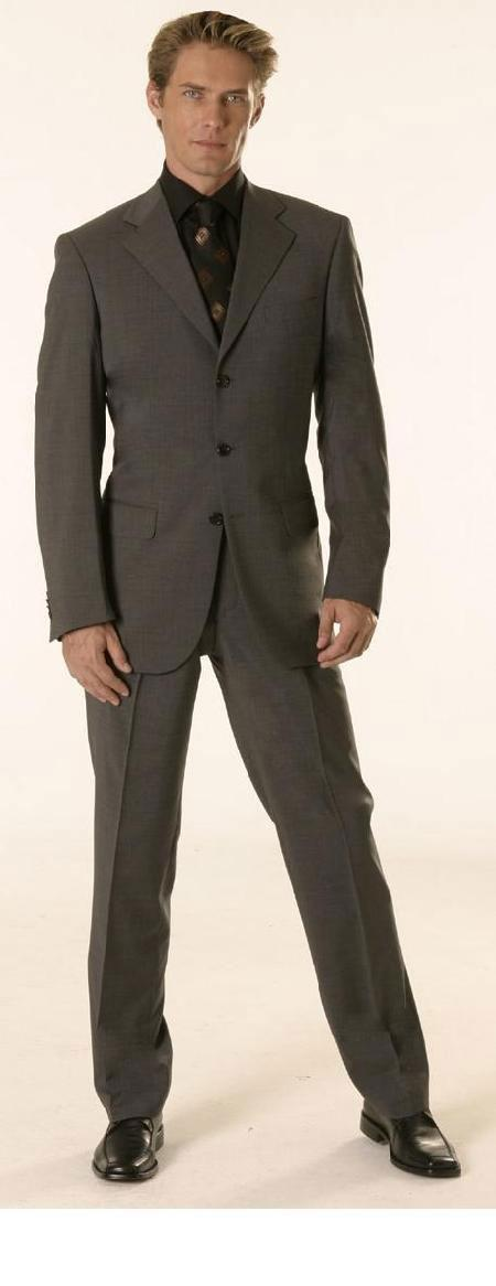 Gianni Charcoal Gray Super s Wool