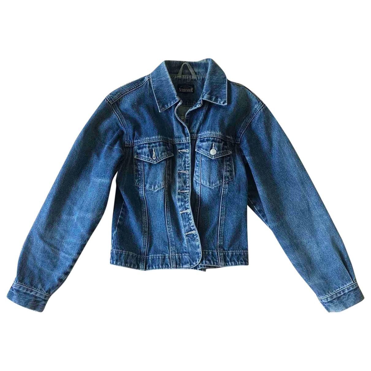 - Veste Oversize pour femme en denim - bleu