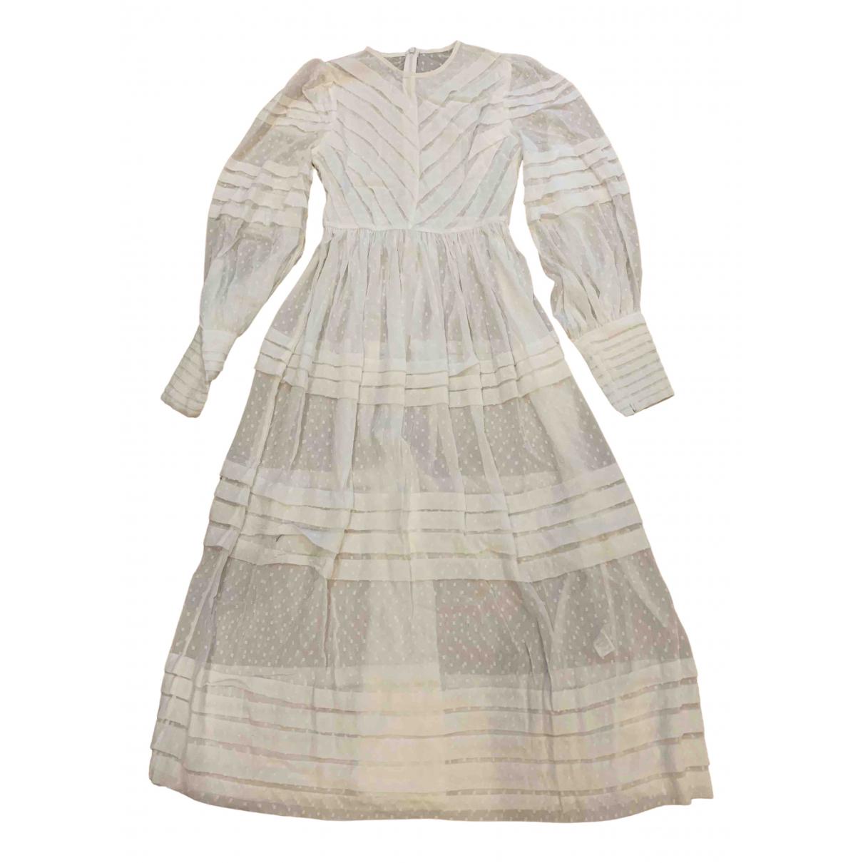 Zimmermann \N Kleid in  Weiss Polyester