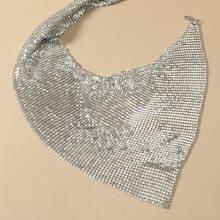 Einfarbige metallische Halskette