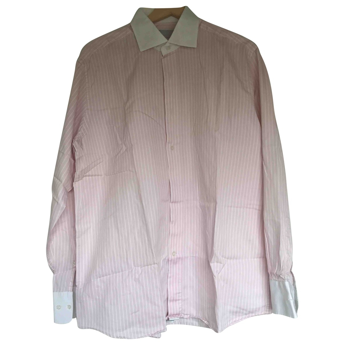 Nina Ricci \N Pink Cotton Shirts for Men 16.5 UK - US (tour de cou / collar)
