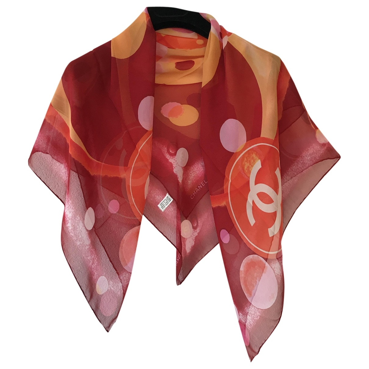 Chanel \N Burgundy Silk scarf for Women \N