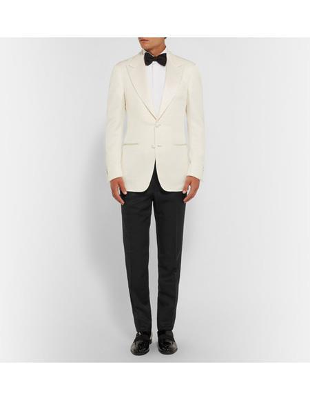 Mens James Bond Dinner Two Piece Ivory Tuxedo