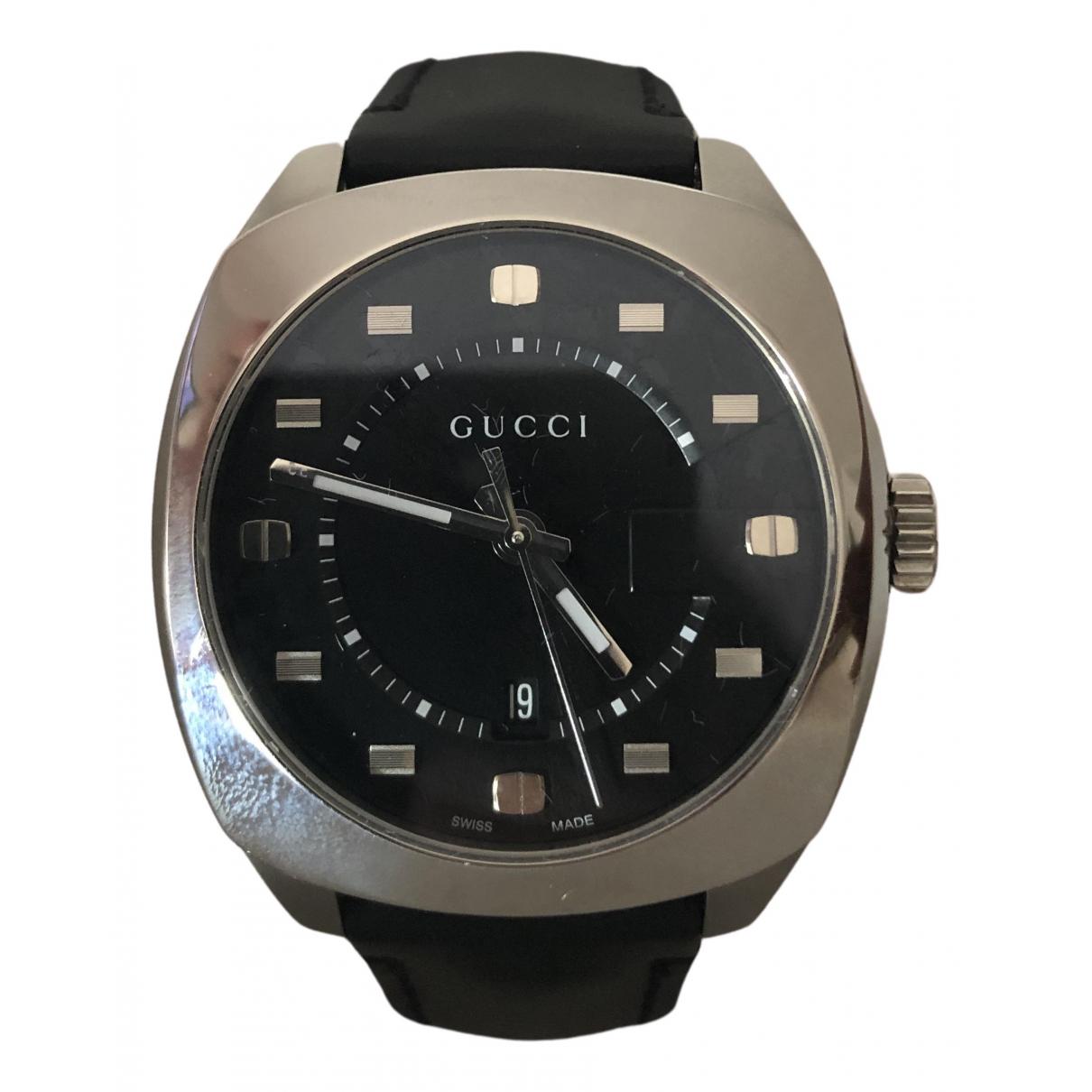 Gucci \N Uhr in  Schwarz Stahl