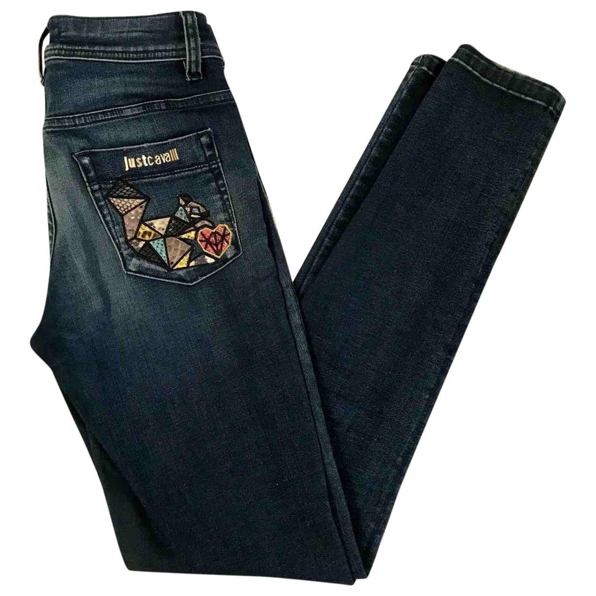 Just Cavalli \N Blue Cotton - elasthane Jeans for Women 25 US
